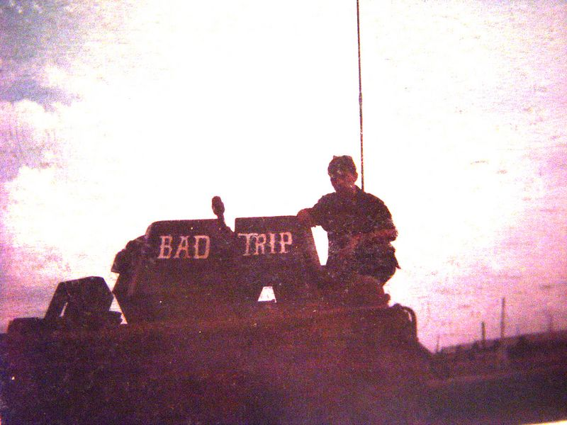 Me sitting on top of B-32, next to the 50 cal. gun shield.