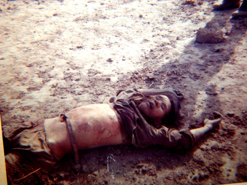 NVA killed in front of B-32