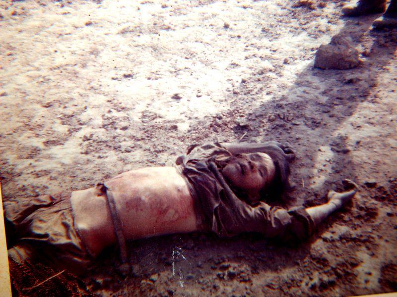 NVA killed in front of B-32