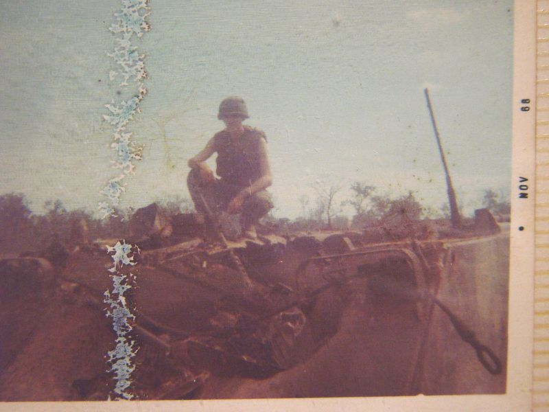 Here I am sitting on top of the remains of B-32.