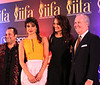 Pakastani Sufi SInger  Ustad Rahat Fateh Ali Khan, Bollywood Actress Priyanka Chopra and Actress Sonakshi Sinha and Mayor of Tampa Bob Buckhorn  at right during IIFA press conference in Tampa ...pic Mohammed Jaffer-SnapsIndia