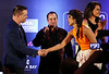 Bollywood Actress Priyanka Chopra  greet Stephen Andrew Baldwin is an American actor, director, producer and author during IIFA Press Conference on 24th April in Tampa,Pakastani Sufi SInger  Ustad Rahat Fateh Ali Khan's   and Sonakshi can be seen in pic ...Pic Mohammed Jaffer-SnapsIndia