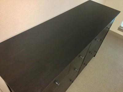 IKEA Hemnes 8 Drawer Dresser Black/Brown