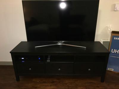 "IKEA Hemnes TV Unit Black/Brown, Samsung 4K 50"" TV Pedestal"