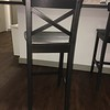 IKEA Ingolf Bar Stool (back) -  Black/Brown