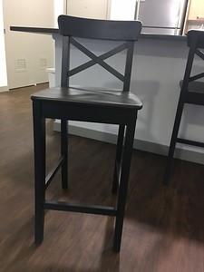 IKEA Ingolf Bar Stool - Black/Brown