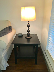 IKEA Hemnes Side Table and Ramnared Table Lamp