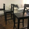 IKEA Ingolf Bar Stools - 3  Black/Brown