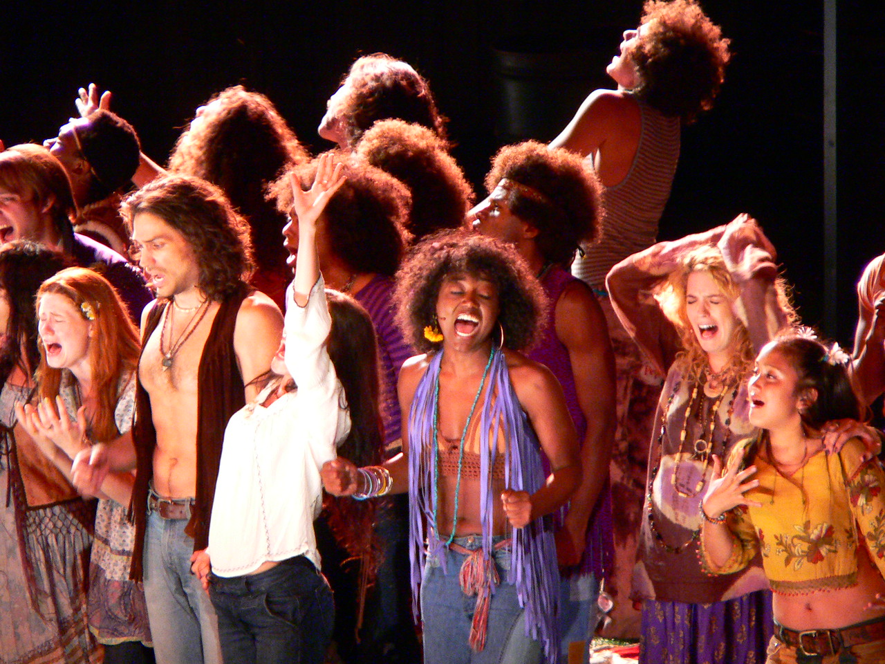 "The musical ""Hair"" performed at the Delacort Theater, Central Park Panasonic FZ20"