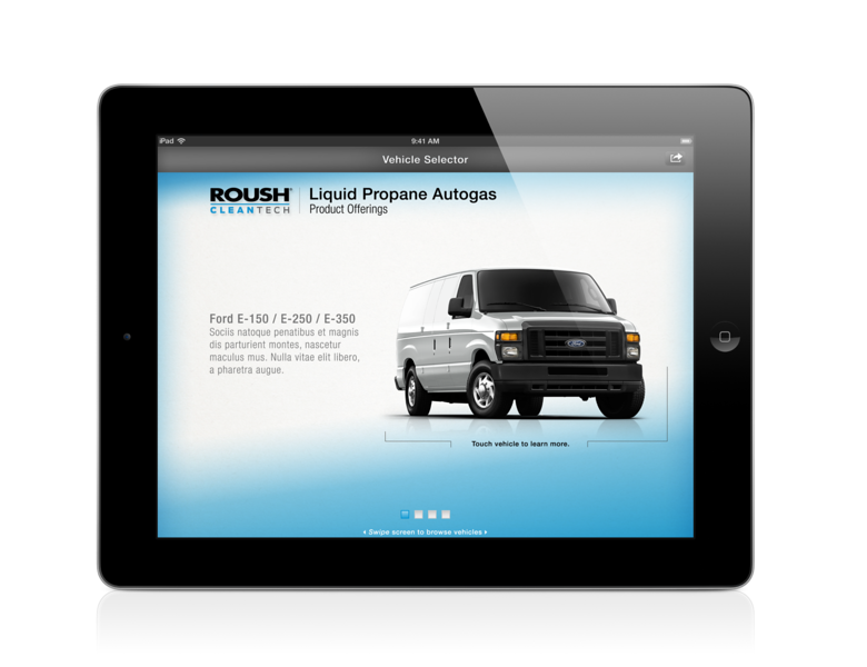ROUSH CleanTech iPad app.