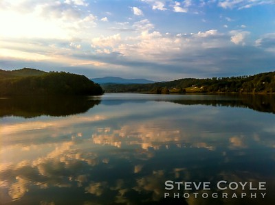 Early morning reflections on Tellico Lake during the Bicycle Ride Around Tennessee (BRAT).