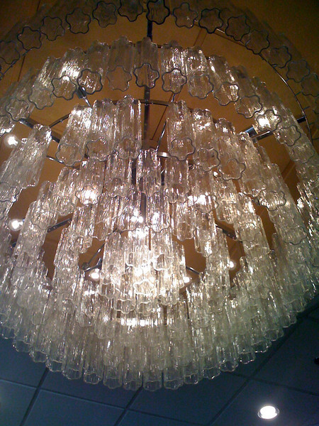 Chandelier at Tampa Airport Marriott Hotel.