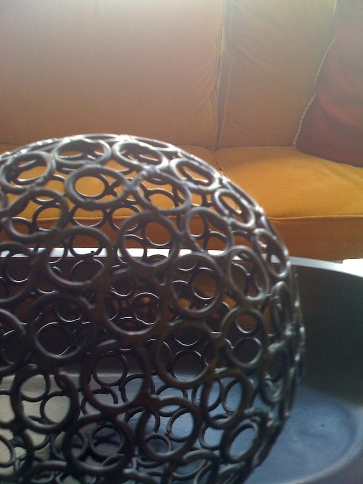 To practice composition in photography I'm taking pictures daily with my iPhone. I'll be posting the best pics here. This first one was  taken at the Tampa Airport Marriott Hotel. The ball was sitting on a coffee table.