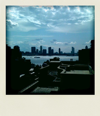 View of the Hudson from studio