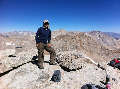 August 20, 2011.  Shin Nimura on the summit of Mt. Langely.