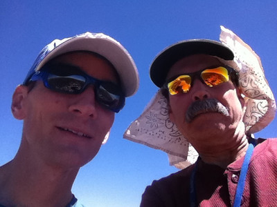 August 19, 2011.  Mike Mellin and me on the summit of Muah Mountain.   I sent this as an MMS to my wife from the summit.