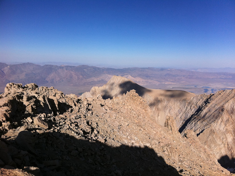 Taken with my iPhone.<br /> <br /> Mt. Irvine summit view.<br /> <br /> Lone Pine Peak.