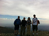 Rick, Shin, Me, Mike Pyle on the summit of Mt. Harwood.<br /> <br /> iPhone Photo.