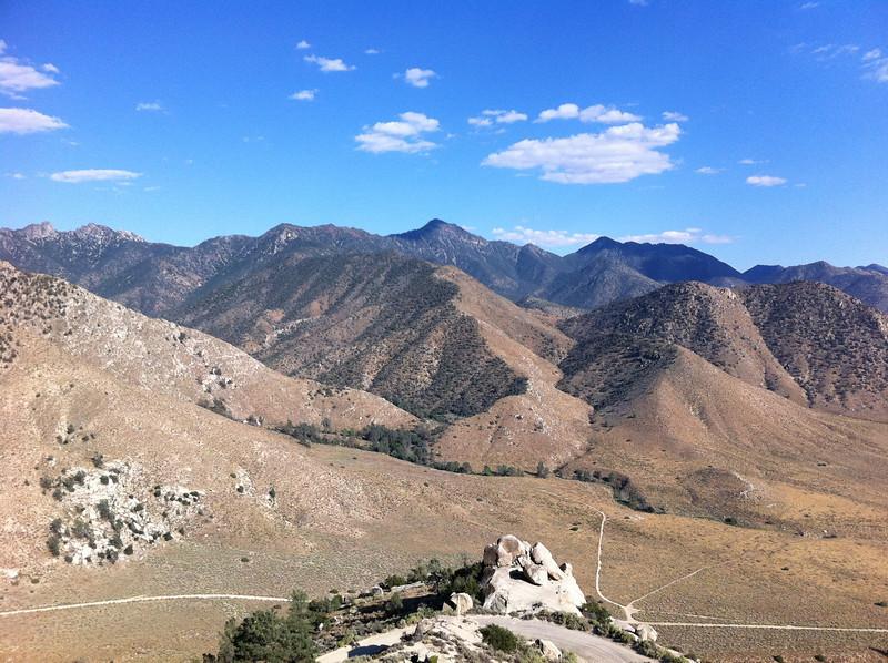 Spanish Needle, Owens Peak, Mt. Jenkins and Morris Peak from the slopes of Parallel BM.