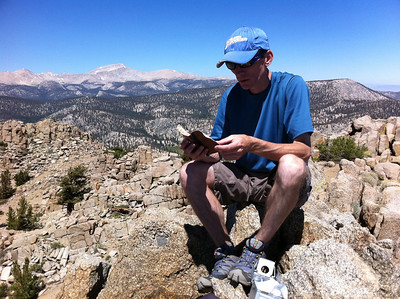 August 19, 2011.  Mike Mellin on the summit of Muah Mountain.