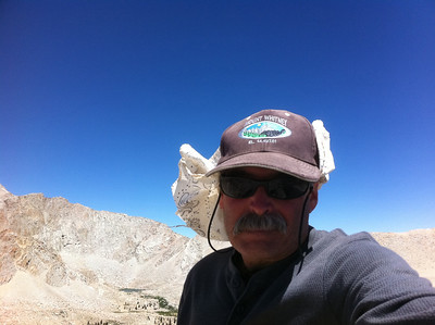 August 20, 2011.  Army Pass Point summit self-portrait.