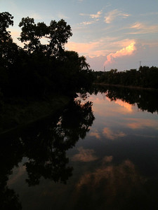 Here is the sunset view from the north side of the brIdge over the Tittabawassee River.