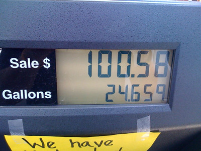 My first $100  fill up. Ouch!
