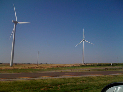 We drove by a wind farm on the way to Lake Merideth.