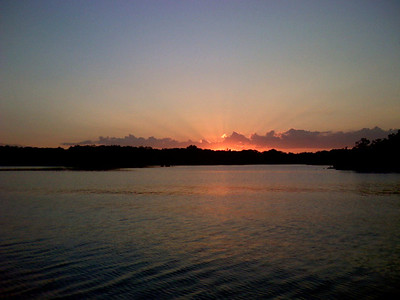A beautiful sunset at Wewoka lake.