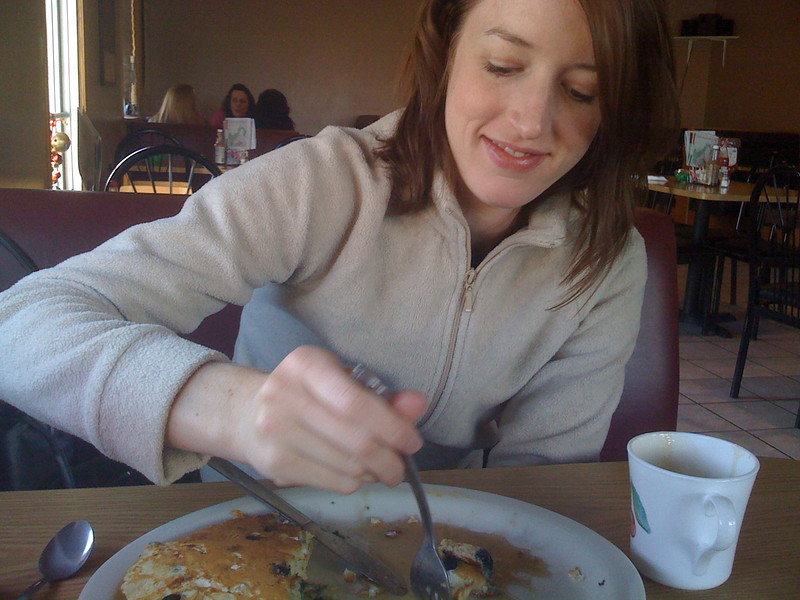 Ricotta Blueberry Pancakes at Amato's. 1/4/09