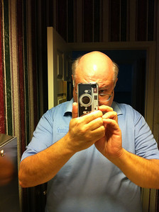 iPhoneyLeicaM4 in use. You have to be careful to not have your finger over the lens on a rangefinder camera. It's not a DSLR.