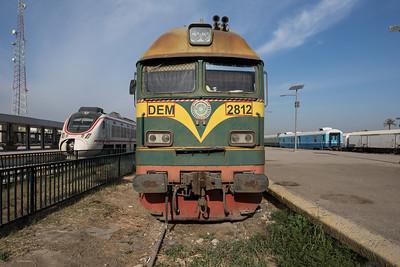 A Ukrainian engine sitting idle.