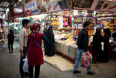 Local residents shopping at Duhok Souq.