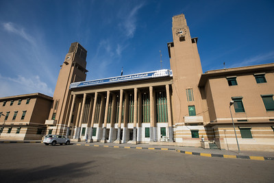 Baghdad Central Station, designed and built by British architects and completed in 1953.
