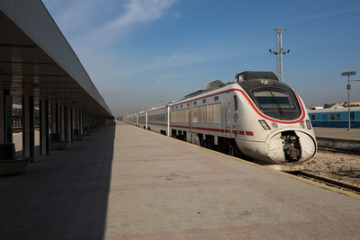 A Chinese CSR train that operates the countries only currently operational passenger route, from Baghdad to Basra.