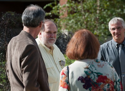 Groundbreaking ceremony for Contemplative Garden on south end of Root Hall