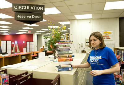 cunningham memorial library, student worker
