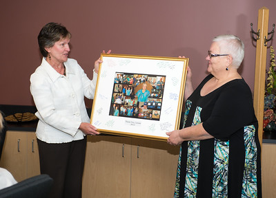Louise Anderson  is honored at Landsbaum Center