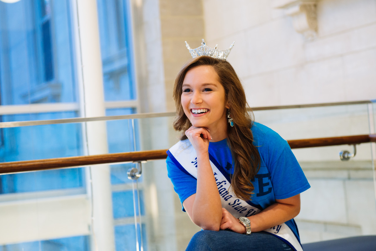 As Miss ISU, Protz trades racing helmet for a crown