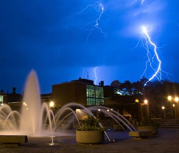 Lighting over campus
