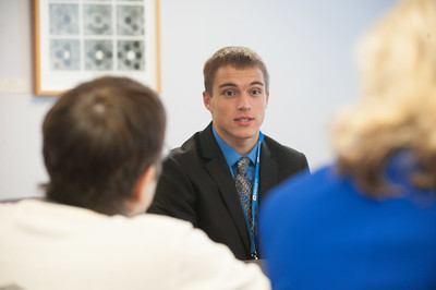 Images from the January 25, 2014, sessions of Scholarship Interview Day.