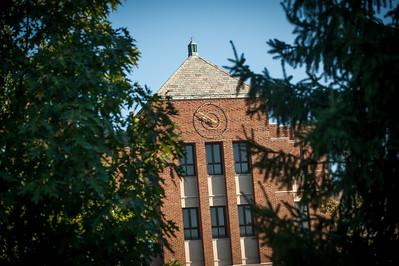 Tirey Hall in the fall