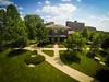 Summer campus scene