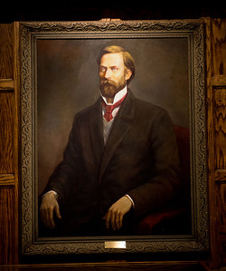 George Brown president portrait in Heritage Lounge