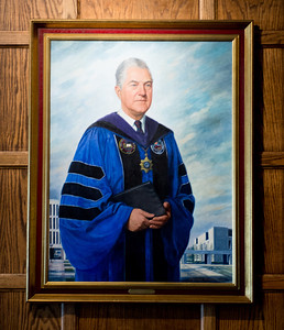 Alan Rankin president portrait in Heritage Lounge