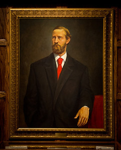 William Albert Jones president portrait in Heritage Lounge