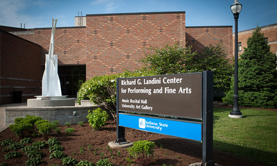 Richard G. Landini Center for Performing and Fine Arts on the day of the dedication