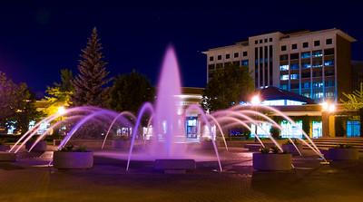 fountain, dede, night