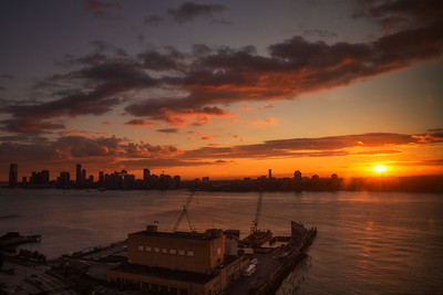 Sunset Over The Hudson