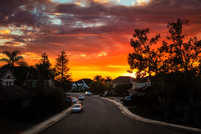 Sunset In The Neighborhood